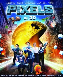 Pixels 2015 Film movie poster Adam Sandler Josh gad Kevin James Peter Dinklage