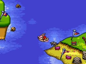 Wooden boat Plok snes super Nintendo