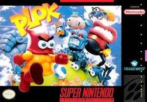 Plok snes super Nintendo boxart north America