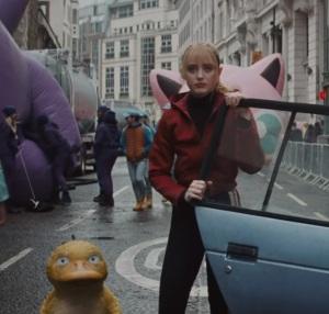 Lucy Stevens and psyduck Pokemon Detective Pikachu movie