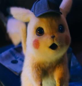 Pikachu meets Tim Goodman Pokemon Detective Pikachu movie