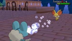 Pokemon battle bubblebeam Pokemon X Pokémon Y Nintendo 3DS