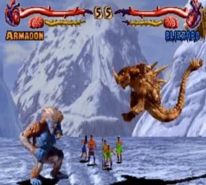 Armadon vs blizzard primal Rage Arcade version