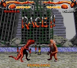 Choas vs Diablo primal Rage Sega Genesis Sega Mega drive