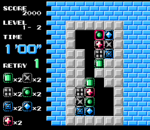 Puzznic NES TAITO hard puzzles