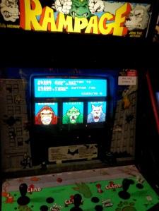 Rampage arcade machine