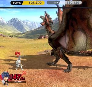 Marth vs Rathalos boss super Smash Bros ultimate Nintendo Switch Monster hunter