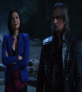 Regina Mills and Rumplestiltskin saving Henry in Neverland once upon a time ABC