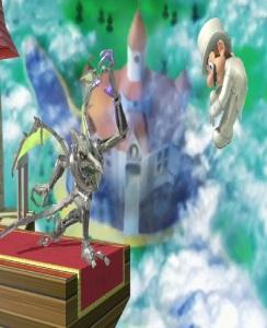 Ridley throws Mario Super Smash Bros ultimate Nintendo Switch Metroid