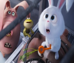 The Secret Life of Pets Snowball the bunny makes carrot key