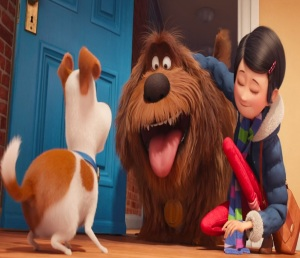 The Secret Life of Pets Katie introduces Duke to Max