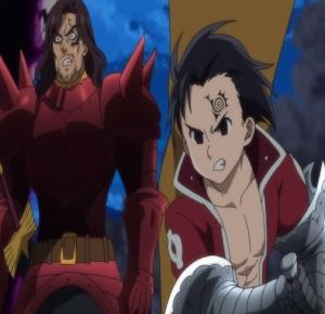 The Seven Deadly Sins anime nanatsu no taizai meliodas scares fraudrin and Zeldris final showdown