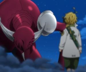 The Seven Deadly Sins anime nanatsu no taizai meliodas defeats Galand of Truth and humiliates him