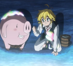 The Seven Deadly Sins: Prisoners of the Sky hawk and meliodas find portal