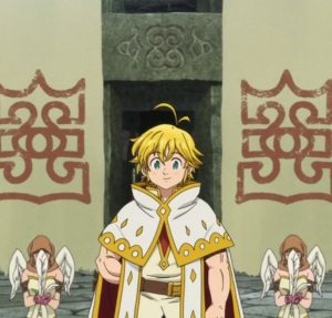 The Seven Deadly Sins Prisoners of the Sky Meliodas celebrated by the Celestials