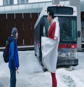 Captain Marvel saves the bus Shazam 2019 film