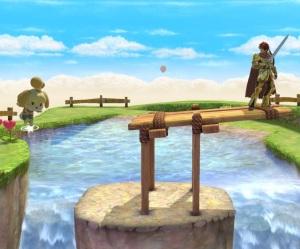 Isabelle vs Roy Skyloft Stage super Smash Bros ultimate Nintendo Switch the Legend of Zelda skyward sword