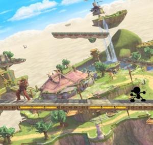 Skyloft Stage super Smash Bros ultimate Nintendo Switch the Legend of Zelda skyward sword