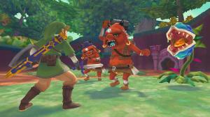 Sword fighting orcs and plants The Legend of Zelda: Skyward Sword Wii