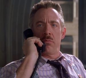 J. Jonah Jameson on the phone Spider-Man 1 jk Simmons