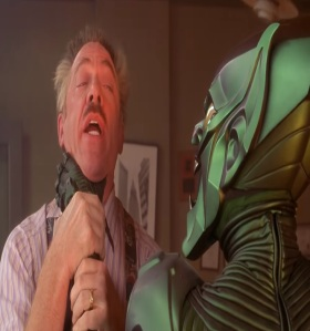 J. Jonah Jameson attacked by the green Goblin Spider-Man 1 jk Simmons