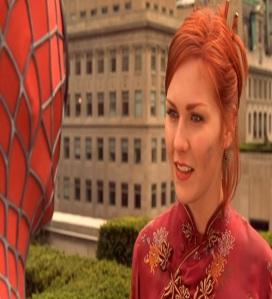 Spider-man saving Mary Jane Watson Spider-Man Kristen Dunst