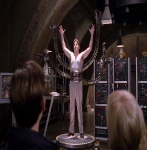 Otto Octavius becomes doc ock Spider-Man 2