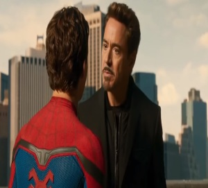 Spider-Man: Homecoming Tony Stark challenges Peter Parker to be better