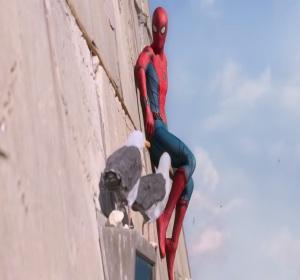 Spider-Man: Homecoming Spider-Man on the Washington monument tom Holland