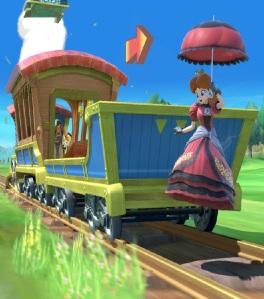 Richter Belmont vs princess Daisy Spirit Train stage super Smash Bros ultimate Nintendo Switch Zelda spirit tracks