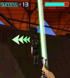 Star Wars Trilogy Arcade boba fett boss battle Green lightsaber