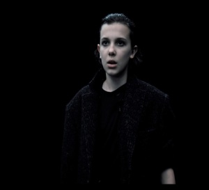 Stranger Things eleven meets her father Millie Bobby Brown