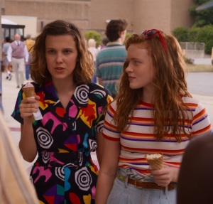 Stranger Things eleven and Maxine at the mall