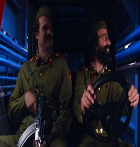 Stranger Things Jim Hopper pretending to be Soviet soldier