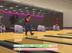 Getting a strike Strike Force Bowling PS2