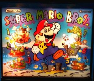 Super Mario Bros. Pinball logo cover