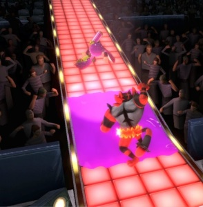 Inkling vs Incineroar Boxing Ring Stage super Smash Bros ultimate Nintendo Switch Punchout