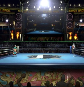 Boxing Ring Stage super Smash Bros ultimate Nintendo Switch Punchout