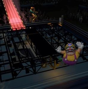 Samus aran vs Wario Boxing Ring Stage super Smash Bros ultimate Nintendo Switch Punchout