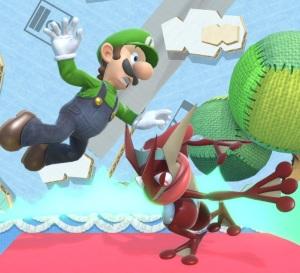 Greninja throwing Luigi super Smash Bros ultimate Nintendo Switch Pokémon