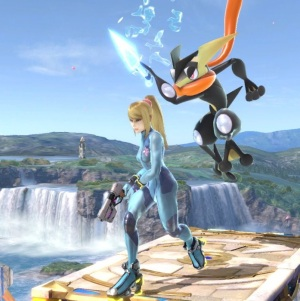 Greninja vs zero suit Samus super Smash Bros ultimate Nintendo Switch Pokémon