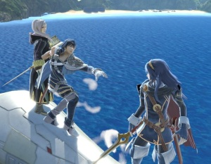 Lucina and her parents Chrom and Robin super Smash Bros ultimate Nintendo Switch fire Emblem