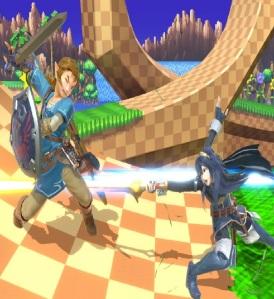 Lucina vs Link super Smash Bros ultimate Nintendo Switch fire Emblem