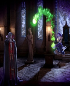 Luigi vs Dracula boss battle Super Smash Bros ultimate Nintendo Switch Castlevania Konami