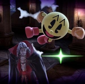 Pac-Man vs Dracula boss battle Super Smash Bros ultimate Nintendo Switch Castlevania Konami