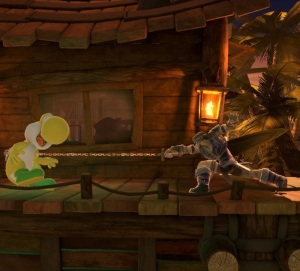 Simon Belmont hitting yellow Yoshi with whip super Smash Bros ultimate Nintendo Switch Castlevania