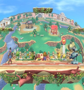 Town and City Stage super Smash Bros ultimate Nintendo Switch animal crossing