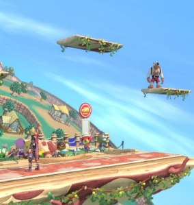 Shulk vs Banjo and Kazooie Town and City Stage super Smash Bros ultimate Nintendo Switch animal crossing