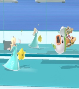Rosalina and luma vs Bowser jr Wii Fit Studio stage super Smash Bros ultimate Nintendo Switch