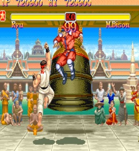 Ryu punching m bison Super Street Fighter II: The New Challengers